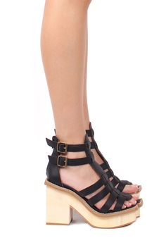 Jeffrey Campbell Shoes EAMES Platforms in Black
