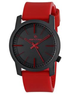 Rip Curl Unisex 'Cambridge' Watch with Red Band ** Be sure to check out this awesome product. Rip Curl, Cool Watches, Watches For Men, Red Watches, Cambridge, Red Jewelry, Red Band, Imitation Jewelry, Curls
