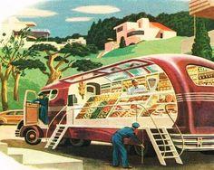 Roger Wilkerson, The Suburban Legend! — Tomorrow's Automarket Look Vintage, Retro Vintage, Vintage Trends, World Of Tomorrow, Science Fiction Art, Googie, Illustrations, Retro Art, Sci Fi Art