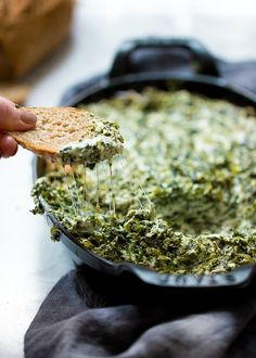 Skinnytaste Hot and cheesy spinach dip, grab a chip, toast or crudites and dig in! Perfect for any gathering, you can double or triple the recipe as needed. Healthy Recipes, Skinny Recipes, Ww Recipes, Whole Food Recipes, Healthy Snacks, Cooking Recipes, Skinnytaste Recipes, Diabetic Recipes, Potato Recipes