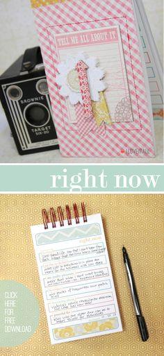 "Free printable ""Right Now"" Currently List | iloveitallwithmonikawright.com"