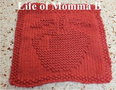 Knitted Apple Pattern : 1000+ images about Knitted Dishclothes, Etc. on Pinterest Dishcloth, Knit D...