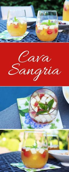 Making sangria with