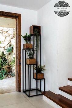 Macetero hierro Home Decor Furniture, Diy Home Decor, Furniture Design, Sweet Home Design, House Plants Decor, Plant Decor, Interior Decorating, Interior Design, Interior Office