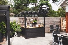 Outdoor Kitchen Bars, Backyard Kitchen, Modern Backyard, Backyard Patio, Canopy Outdoor, Outdoor Rooms, Outdoor Living, Outdoor Decor, Outdoor Sheds