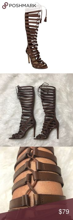 17e119dc9d0 Vince Camuto OLIVIAN Gladiator Sandals Vince Camuto Olivian Women s Knee  High Gladiator Sandals Leather upper with