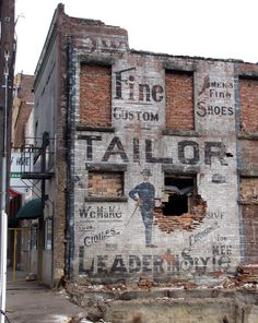 Tailor shop in West Virginia
