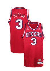 Allen Iverson Adidas Philadelphia Mens Red Swingman Retired Basketball Jersey