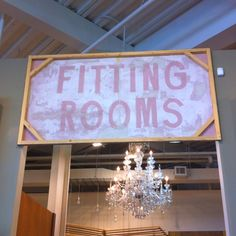 UO fitting room sign