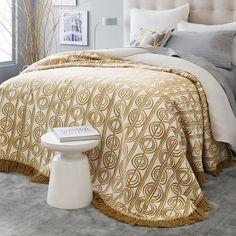 Circle Stripe Bedspread | west elm