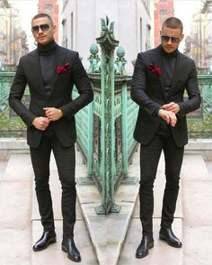 Classic Grey Men Suits for Business Formal Groom Tuxedo Slim Fit Terno Masculino Jacket Pants Male Blazer Terno Masculino Prom Outfits For Guys, Prom For Guys, Black Outfit Men, All Black Suit, Black Outfits, Traje Casual, Mens Fashion Suits, Mens Suits, All Black Mens Fashion