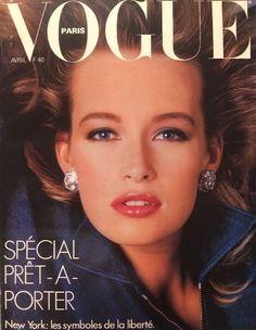 Estelle Lefébure by Bill King Vogue Paris April 1986