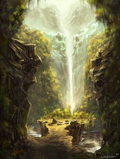 Fantasy Landscape Art Caves 54 Ideas For 2019 Fantasy Landscape, Landscape Art, Landscape Paintings, Landscapes, Landscape Concept, Landscape Illustration, Fantasy Places, Fantasy World, Creation Art