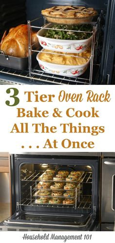 Are you cooking a big family dinner for Thanksgiving or Christmas? This three tier oven rack gets it all done at once!
