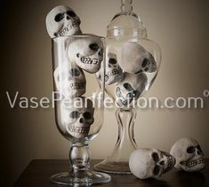 Set a spooky scene with Halloween decorations from Pottery Barn. Shop for faux pumpkins, skeletons and Halloween lights and set the stage for a scary Halloween party. Halloween Vase, Creepy Halloween Decorations, Halloween Home Decor, Halloween Skull, Scary Halloween, Fall Halloween, Halloween Ideas, Halloween Party, Holiday Decorations
