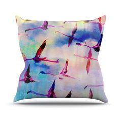 Milli Home Decorative Pillows : 1000+ images about Flamingo Throw Pillows on Pinterest Flamingos, Pink flamingos and Pillows