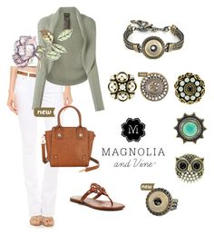 Magnolia and Vine Casual white and green by magnoliaandvine on Polyvore featuring Giorgio Armani, Citizens of Humanity and Tory Burch