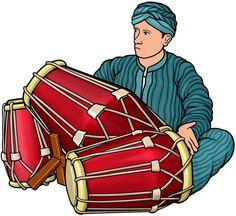 [ クンダン kendang ]  東南アジアの太鼓 : クンダンを演奏する男性。  Kendang is a two-headed drum used by Southeast Asia.