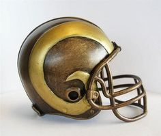 Los Angeles Rams Tim Wolfe Collection Helmet Sculpture
