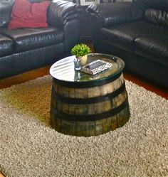whisky barrel coffee table