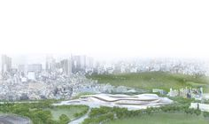 Among the eleven finalists that were announced in the international design competition the 2020 Olympic Stadium proposal of SANAA and Nikken Sekkei for the New National Stadium Japan was really appreciated among Japanese. Sou Fujimoto, 2020 Olympics, Tokyo Olympics, Rem Koolhaas, Tadao Ando, Norman Foster, Architecture Images, Architecture Drawings, Osaka