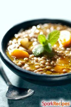 Easy Lentil Vegetable Soup Recipe: Ready in 30 minutes! | via @SparkPeople #food #dinner #healthy #vegetarian