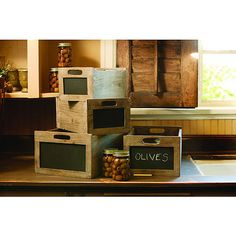 rustic wood chalkboard wine crate-small / suzisfarmhousefield