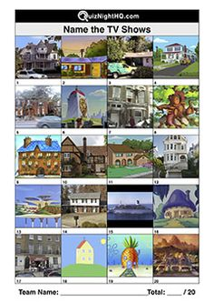 Write the theme tune, sing the theme tune. A trivia round nothing to do with theme tunes. But the TV shows need to be named by these establishing shots. Trivia Questions And Answers, This Or That Questions, Tv Theme Tunes, Logo Quiz Games, Quizzes And Answers, Film Quiz, Quiz Names, Emoji Quiz, Biscoff Cheesecake