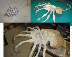 """I call this thing a """"queen"""" because it is a bit larger than the standard face hugger. I am going to use it as a """"hero"""" prop and wanted something that will startle and be detailed, so I got a little. Alien Halloween, Halloween School Treats, Halloween 2016, Halloween Projects, Diy Halloween Decorations, Holidays Halloween, Halloween Party, Halloween Graveyard, Alien Party"""