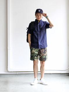 nisica_20150629IMG_6637 Young Fashion, Boy Fashion, Mens Fashion, Fashion Outfits, Fashion Trends, Minimal Dress, Engineered Garments, Wool Pants, Asian Style