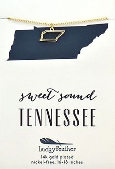 Tennessee State Necklace | Quinn's Mercantile