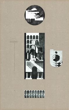 Edvard Lindblom, House for Collectors, Prospect of Architectural interventions, 540mm x 850mm.