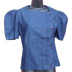 1970s Denim Blouse Size Small Unworn on SALE for a short time from Toinette's