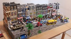 Love the hill, trolley car, first three modulars... wow!  Nice inspiration.