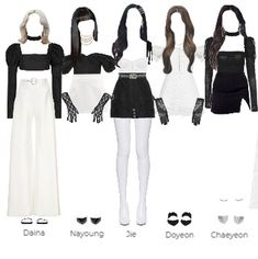 Kpop Fashion Outfits, Stage Outfits, Edgy Outfits, Cute Casual Outfits, Dance Outfits, Movie Inspired Outfits, Mini Vestidos, Lolita Dress, Polyvore Outfits