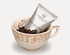 """...now you can also add the stimulating qualities of coffee beans to your skin - and look amazing!"" Beauty Find - Votre Vu Cafe Creme Face Masque 