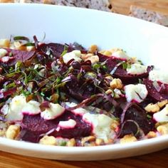 "Roasted Beets with Goat Cheese and Walnuts  I ""This was a very nice, updated way to prepare beets. The flavor combination works great."""