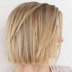 Best Short Hairstyles for Thick and Straight Hair | www.short-haircut...