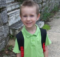 Leland Thomas on his first day of kindergarten at Stevens Elementary.