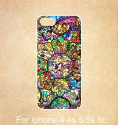 character disney iPhone 4 Case,disney all character stained glass iPhone 4s case ,iPhone 4 4s rubber Case,cover skin for iphone 4/4s case