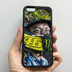 Valentino Rossi Art iPhone Rubber Case 4 4s 5 5s 5c 6 6s Plus Softcase Hybrid