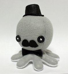 Two of my favorite things...octopus & moustache!