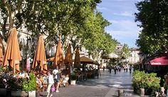 Place de l'Horloge - where I waitressed in Avignon.