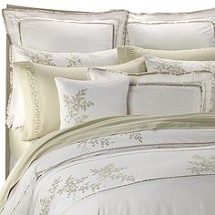 Meadow Floral bedding features a light, tranquil color palette and gentle floral pattern. 100% cotton sateen. Full/Queen duvet cover measures 90 x 92. King duvet cover measures 106 x 92. Machine wash. Imported.
