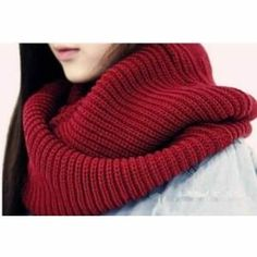 Women's Winter Warm Infinity Scarf Circle Cable Knit Cowl Long Neck Scarves New Knit Cowl, Cable Knit, Crochet Mens Scarf, Fashion Pattern, Cozy Scarf, Textiles, Winter Warmers, Neck Scarves, Scarf Styles
