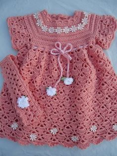 Crochet Dress Pattern For FreeCrocheted Baby Dress FREE Pattern in English by Sweet Nothings Crochet at Shyaman .This - 2 PATTERNS - Months - Flower N Shell Baby Dress & Headband Set, Crochet Baby Dress, Baby Christening dress Pattern. Crochet Baby Dress Free Pattern, Baby Dress Patterns, Baby Girl Crochet, Crochet Baby Clothes, Cute Crochet, Crochet For Kids, Knit Crochet, Crochet Baby Dresses, Baby Outfits