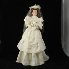 Vtg Ashton Drake FLORA Classic Brides of The Century 1900s Porcelain Doll