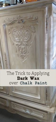 There is a little trick to applying dark wax over chalk paint when painting furniture. It's super important to know before you apply it or you could end up having redo… View the slideshow below to read more: