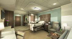 Rendering from In.design Inc.s submission, a finalist in the Patient Empowered Room Design Competition