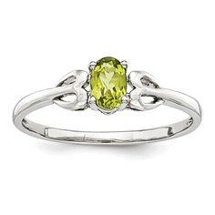 Lex /& Lu 14k Yellow Gold w//Sterling Silver Two-tone w//Oval Peridot Post Earrings